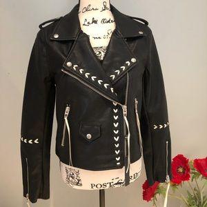 🆕 NWT Blank NYC Vegan Leather Moto Jacket